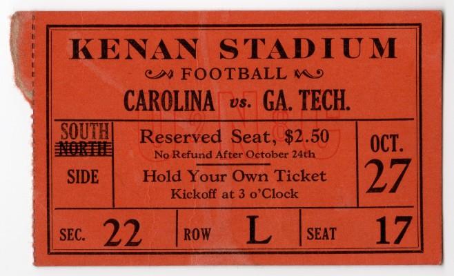 1928-10-27 - Georgia Tech at North Carolina
