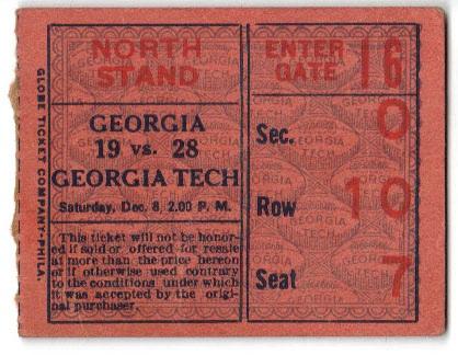 1925 Georgia Tech vs Georgia