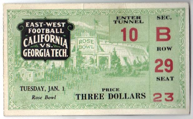 Georgia Tech vs. California - Rose Bowl - 1929