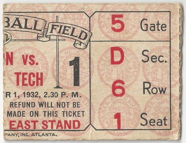 Georgia Tech vs. Clemson - 1932
