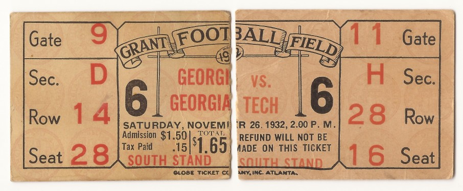 Georgia Tech vs. Georgia – 1932