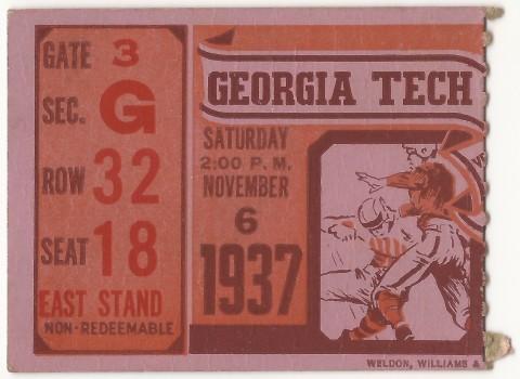 1937-11-06 - Georgia Tech vs. Clemson