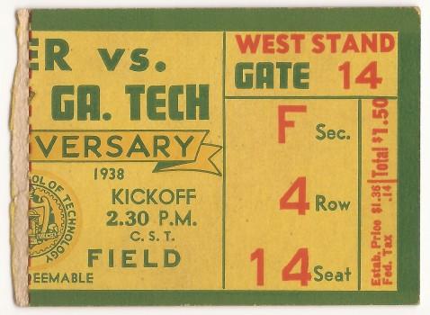 1938-10-01 - Georgia Tech vs. Mercer