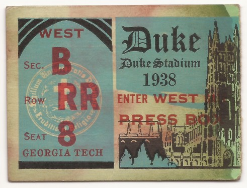 Georgia Tech at Duke 1938
