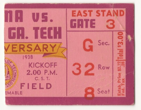 1938-11-12 - Georgia Tech vs. Alabama