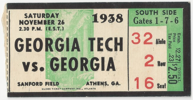 Georgia Tech at Georgia - 1938