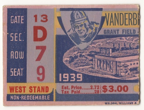1939-10-21 - Georgia Tech vs. Vanderbilt
