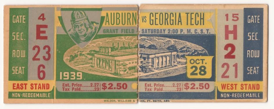 Georgia Tech vs. Auburn - 1939
