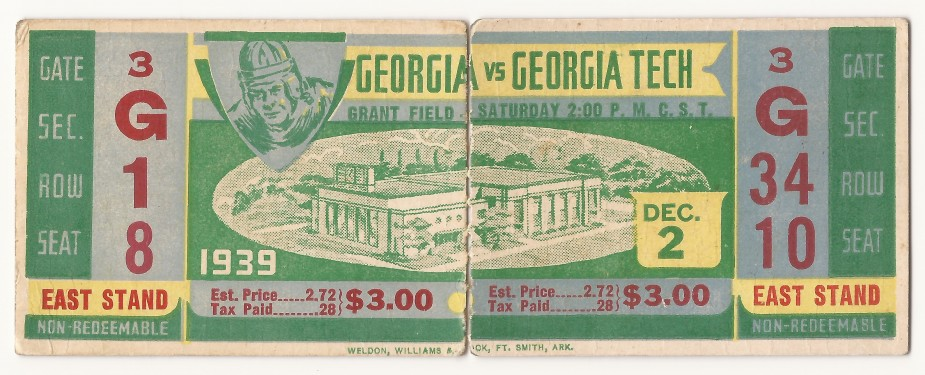 1939-12-02 - Georgia Tech vs. Georgia