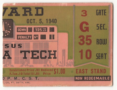 1940-10-05 - Georgia Tech vs. Howard