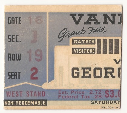 1940-10-19 - Georgia Tech vs. Vanderbilt