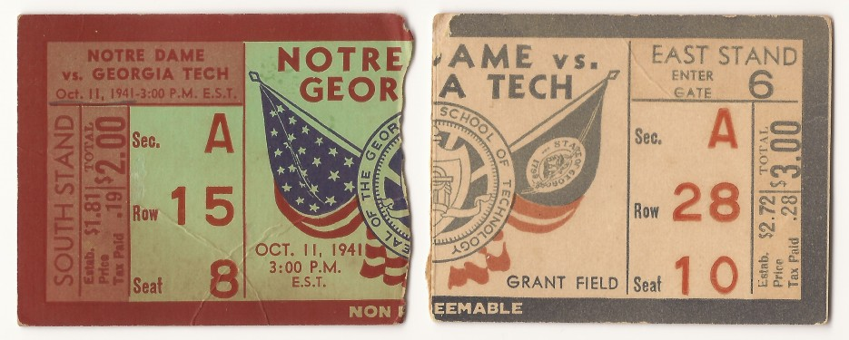 1941-10-11 - Georgia Tech vs. Notre Dame