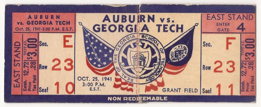 1941-10-25 - Georgia Tech vs. Auburn