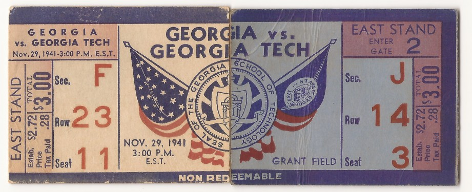 Georgia Tech vs. Georgia - 1941