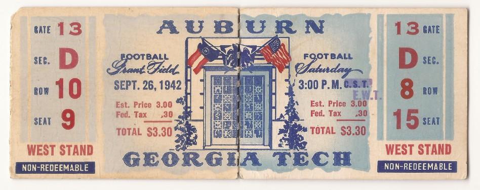 1942-09-26 - Georgia Tech vs. Auburn