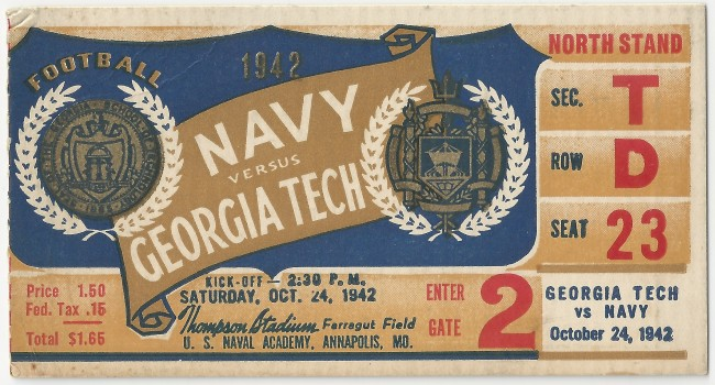 1942-10-24 - Georgia Tech at Navy