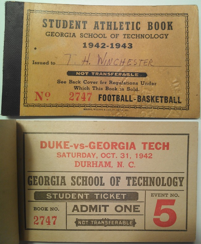 1942-10-31 - Georgia Tech at Duke - Half