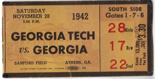 Georgia Tech at Georgia - 1942