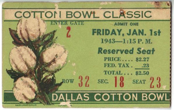 Georgia Tech vs. Texas - Cotton Bowl - 1943
