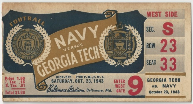 Georgia Tech at Navy - 1943