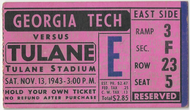 1943-11-13 - Georgia Tech at Tulane