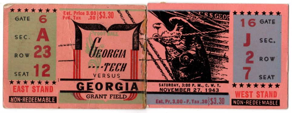 1943-11-27 - Georgia Tech vs. Georgia