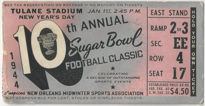 Georgia Tech vs. Tulsa - Sugar Bowl - 1944