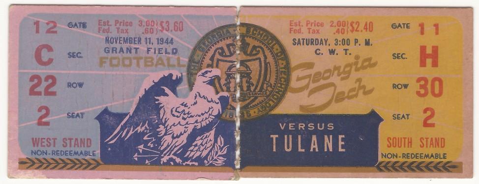 1944-11-11 - Georgia Tech vs. Tulane