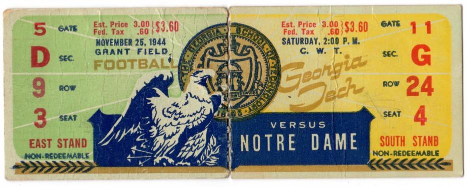 1944-11-25 - Georgia Tech vs. Notre Dame