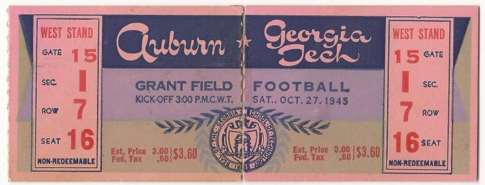 1945-10-27 - Georgia Tech vs. Auburn