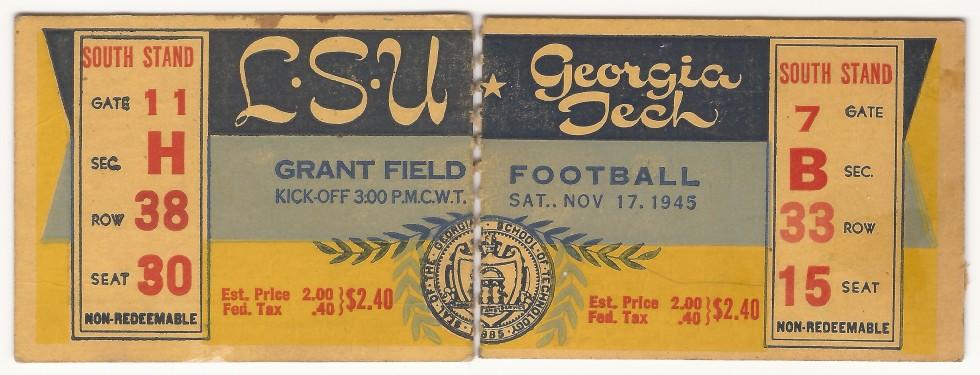 Georgia Tech vs. Louisiana State - 1945