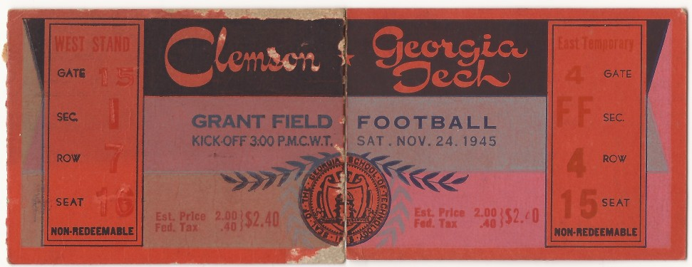 1945-11-24 - Georgia Tech vs. Clemson