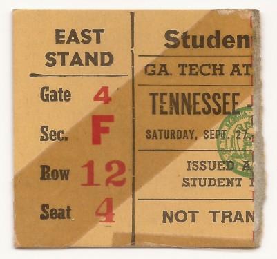 Georgia Tech vs. Tennessee - Student - 1947