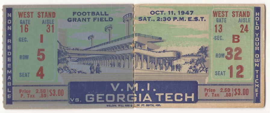 1947-10-11 - Georgia Tech vs. Virginia Military Institute
