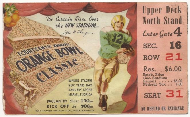 1948-01-01 - Georgia Tech vs. Kansas - Orange Bowl
