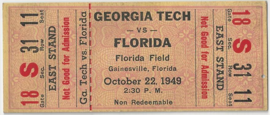 Georgia Tech at Florida - 1949