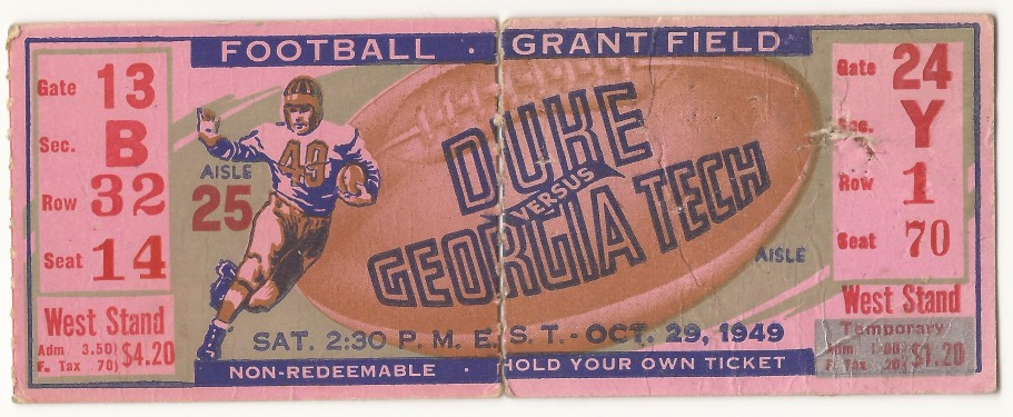 Georgia Tech vs. Duke - 1949