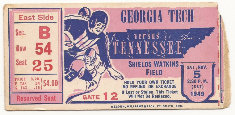 Georgia Tech at Tennessee - 1949