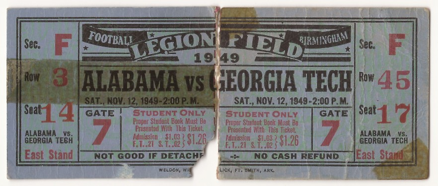 Georgia Tech at Alabama – 1949