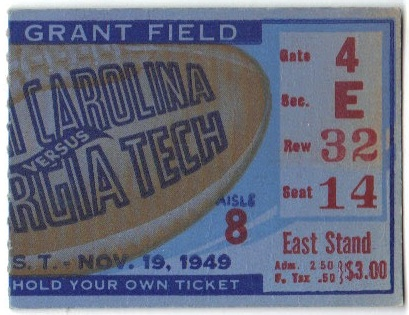 Georgia Tech vs. South Carolina - 1949