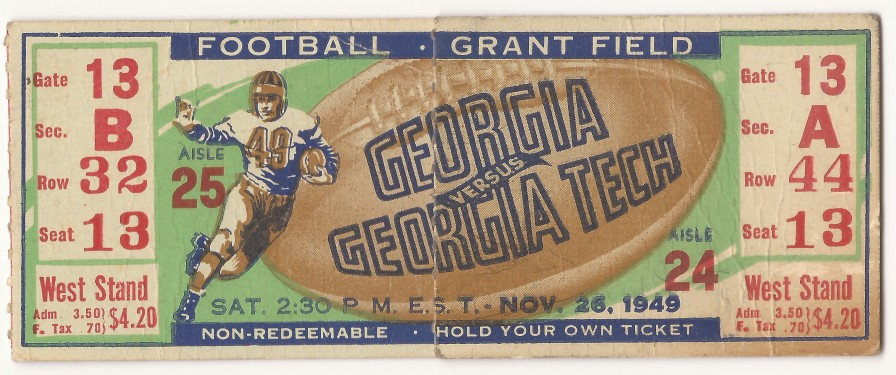Georgia Tech vs. Georgia - 1949