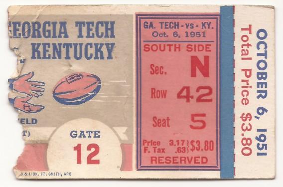 Georgia Tech at Kentucky - 1951