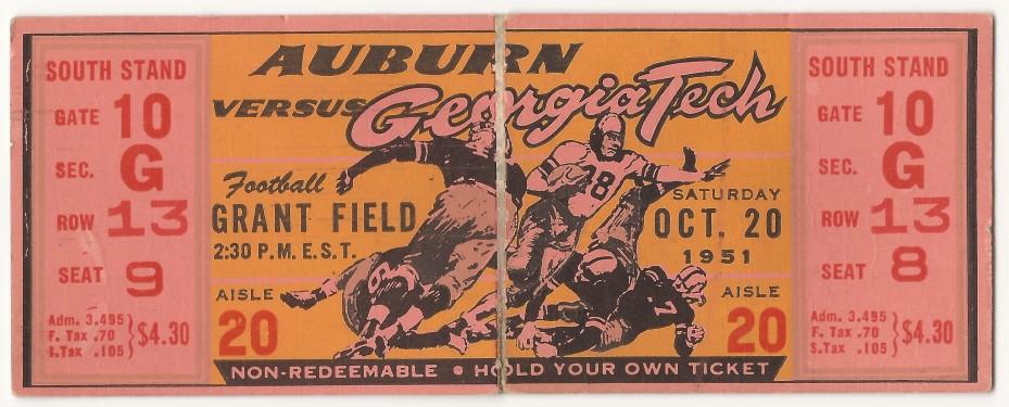 1951-10-20 - Georgia Tech vs. Auburn