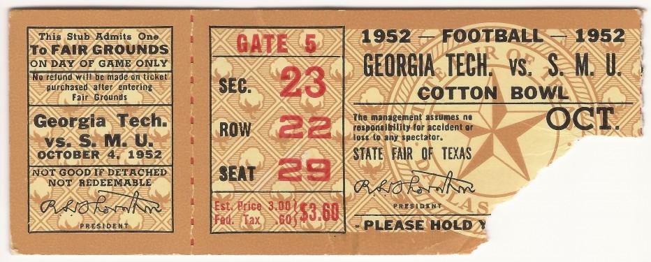 Georgia Tech at Southern Methodist - 1952