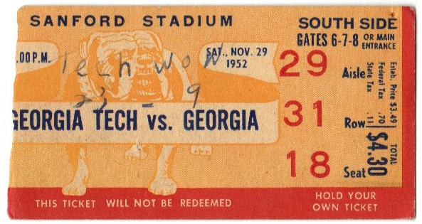 Georgia Tech vs. Georgia - 1952