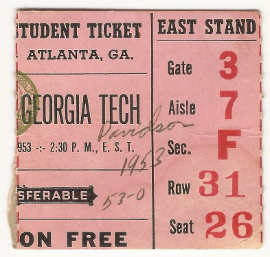 1953-09-19 - Georgia Tech vs. Davidson - Student