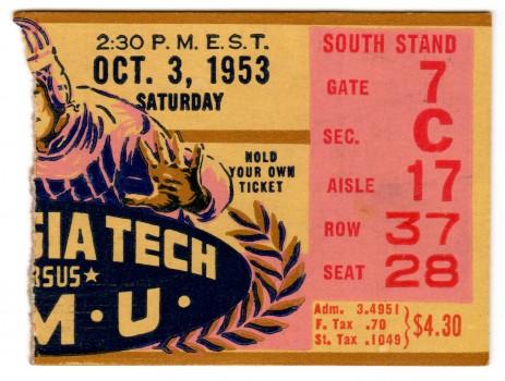 1953-10-03 - Georgia Tech vs. Southern Methodist