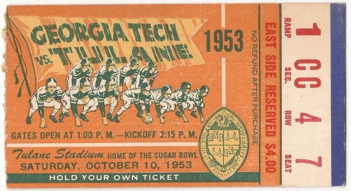 1953-10-10 - Georgia Tech at Tulane