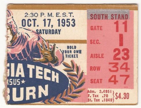 1953-10-17 - Georgia Tech vs. Auburn