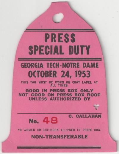 Georgia Tech at Notre Dame - 1953
